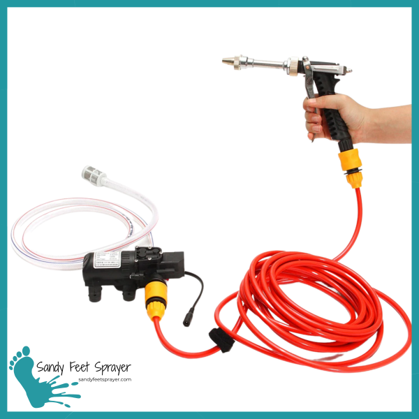 Sandy Feet Sprayer Tampa Sand Removal System Pressure Washer Portable Beach Camping Jeeping Hiking