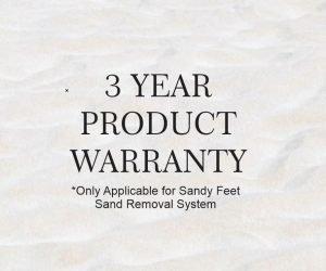 3 year warranty sandy feet sprayer sand removal sysytem